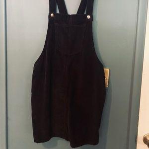 Forever 21 Corduroy Overall Mini Dress